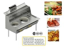 Commercial Heavy Duty Chinese Wok Range With 2-7 Burners USA Seller-Custom made
