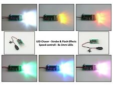 8 LED Chaser Strobe & Flash Effects Speed control LED Lights 8x 3mm LEDs RC Kit