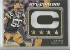 2012 Topps NFL Captain's Patch #NCP-AJH AJ Hawk Green Bay Packers A.J. Card