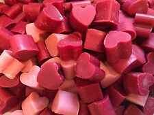 60 Highly Scented Wax Mini Heart Melts/Tarts Handmade 3 different Fragrances