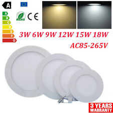 10X 20X Dimmable Recessed LED Panel Ceiling Light Flat Downlight Lamp Bulb 3-24W