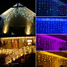 3M~100M 96-1000 LED Christmas Icicle Curtain String Lights Outdoor Indoor 220V E