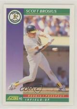 1992 Score #846 Scott Brosius Oakland Athletics RC Rookie Baseball Card