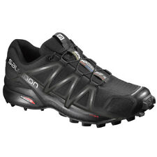 Salomon Speedcross 4 Black Metallic Men Running Athletic sports shoes sneakers