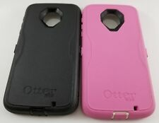 Authentic OtterBox Defender Series Case for Moto Z Force Droid * Black & Pink