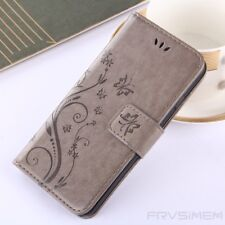 Womens Magnetic Flip Silicone Flower Leather Shockproof Case Cover For iPhone M