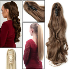 Ponytail Hair Piece Jaw Pony tail Clip In Hair Extensions Thick Real As Human P5