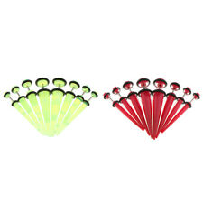 8 Piece Acrylic Cheater Ear Stretcher Fake Illusion Taper Earrings Piercing