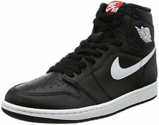 Nike Air Jordan 1 Retro High OG Black/White Mens Basketball Shoes Size 15