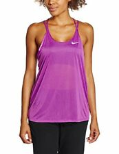 Nike Womens Dri-FIT? Cool Breeze Strappy Running Tank Top Cosmic Purple/Reflect