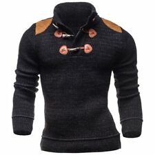 Fashion Men's Slim Fit Long Sleeve Sweater Casual Tops Blouse Knitting Pullover