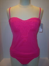 NWT Kenneth Cole Size S Tankini & Size M Banded Bikini Brief Swimsuit Pink $120