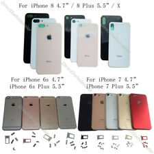 For iPhone 6s 7 8 X Plus Back Housing Battery Cover Middle Frame & Sim Card Tray