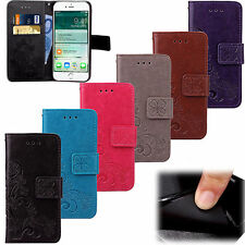 Magnetic Leaves Leather Case Flip Card Wallet Skin Cover For Apple iPhone Mobile
