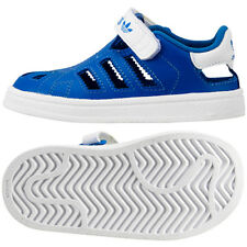 Adidas Superstar Sandal CF Infants Kids Trainers Shoes Blue Touch fastener