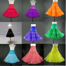 Multicolor 2 Layers Tulle Skirt 50s Petticoat Underskirt Rockabilly Tutu