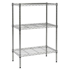 "APOLLO HARDWARE 3-SHELF NSF WIRE SHELVING RACK WITH WHEELS, 14""X24""X36"""