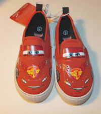 Disney Cars Toddler Boys Canvas Shoes Slip Ons Lightning McQueen Size 6 or 8 NWT
