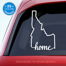 """Idaho State """"Home"""" Decal - ID Home Car Vinyl Sticker - Add a heart over a city!"""