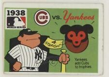 1971 Fleer Laughlin World Series #36 1938 Chicago Cubs vs New York Yankees Card