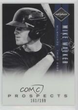 2011 Panini Limited Prospects OptiChrome #36 Mike Walker Milwaukee Brewers Card