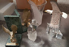 Crystal Cathedral Ministries Eagles CHOICE of statues, pewter pen set, bookends