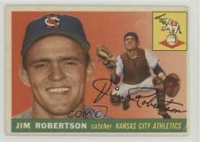 1955 Topps #177 Jim Robertson Kansas City Athletics Baseball Card