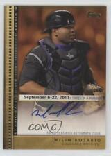 2012 Topps Update Series Golden Debut Autographs #GDA-WR Wilin Rosario Auto Card