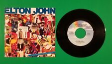ELTON JOHN SIGNED IN PERSON 45 RECORD PICTURE SLEEVE WITH PHOTO PROOF