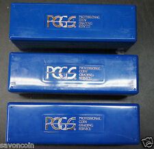LOT of 4 PCGS Blue Coin Slab Storage Boxes  FREE SHIPPING