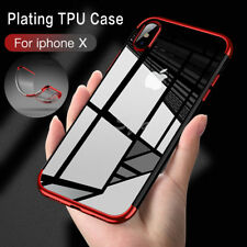 Stylish Hybrid Shockproof Plating Case Silicone Cover For Apple iPhone X 8 7 6