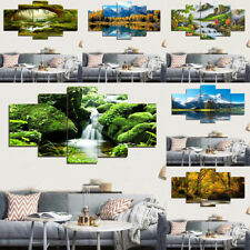 5pcs Modern Large Oil Painting Canvas Prints Natural Scenery Wall Decoration