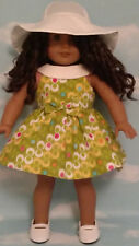 """Dress handmade to fit 18"""" American Girl Doll 18 inch Doll Clothes 30a"""