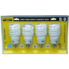 Pack of 4 CFL Bulbs - 13 or 23W Energy Saving Compact Fluorescent Light Bulbs