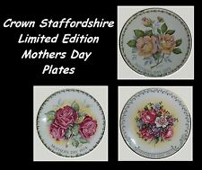 Crown Staffordshire Limited Edition Mothers Day Plates - Not Sold As Set