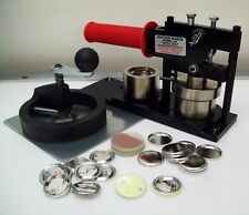 """1-1/4"""" Tecre Button Maker Machine, Rotary Cutter AND Pin Back Button Parts KIT"""