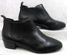 NEW Michael Kors Womens Shaw Black Leather Ankle Boots Shoes size mm 8 M*