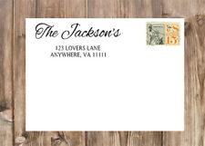 Personalized Script Last Name Family Self-Inking Rubber Return Address Stamp