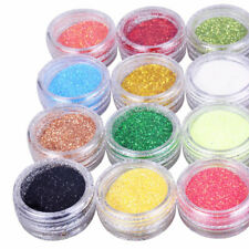 12/24 PC MIX COLOR GLITTER DUST POWDER SET.for.Nail Art ACRYLIC TIPS DECORATION,