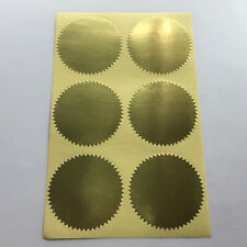 Notary & Certificate Seal Embosser Label Embossing Sticker - 2 inch -GOLD Glossy
