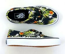 Vans Youth Kids Authentic Black-Multi Hawaiian Floral Canvas Skate Shoe - NEW
