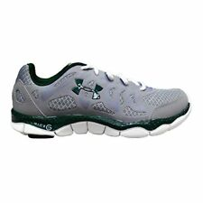 Under Armour Women's UA Micro G Engage Running Shoes, White/Black/Green
