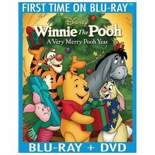 Disney Winnie the Pooh - A Very Merry Pooh Year (Blu-ray/DVD, 2013, 2-Disc Set)