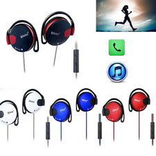 3.5mm Braided Sport Gym Ear-hook Earphone Headphones with Mic For Samsung Lot