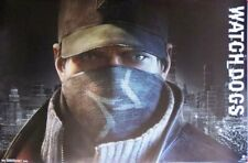 Watch Dogs-Face video game - Poster-Laminated Available-85cm x 55cm-Brand New