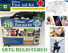 BULK 210 piece First Aid Kit Family Supplies Survival Medical Workplace Travel