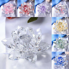 Crystal Lotus Ornament Crafts Paperweight Glass Lotus Model Wedding Gift