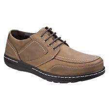 Hush Puppies VOLLEY VICTORY Mens Lace Up Comfy Moccasin Casual Shoes Brown New