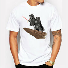 Hot Mens Star Wars Funny Role Print Short Sleeve T-shirt  Hiphop Casual Tees