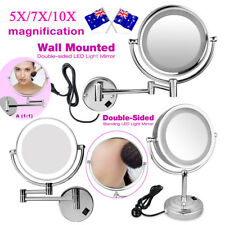 Beauty Makeup Cosmetic Mirror Double Side Magnifying Bath Mirror with LED Lights